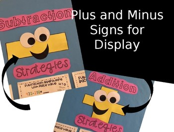 Plus and Minus Signs for Bulletin Board