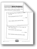 Plus and Minus Word Problems (fact families)