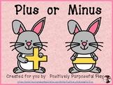 Plus or Minus