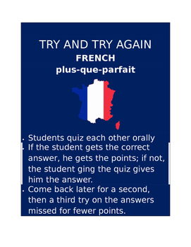 Plus que parfait FRENCH Try and Try Again