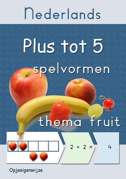 Plussommen tot 5 - fruit - Nederlands