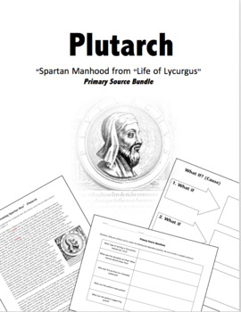 "Plutarch Primary Source Bundle: ""Life of Spartan Men"", Org"