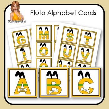 Pluto Alphabet Cards