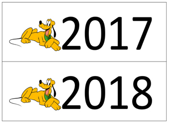 Disney's Pluto Calendar Days!