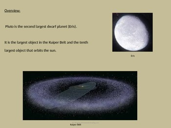 Pluto - Dwarf Planet - Power Point - Information Facts Pictures