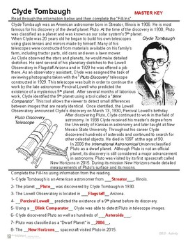 Pluto and Clyde Tombaugh - Introduction and Activity - Pluto the Dwarf Planet