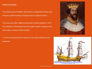 Plymouth Colony History Power Point First Thanksgiving Facts  Information