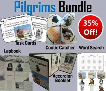 Plymouth Colony: Pilgrims Task Cards and Activities Bundle