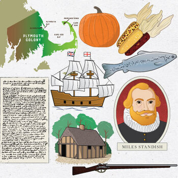 Plymouth Colony / Thanksgiving Clip Art