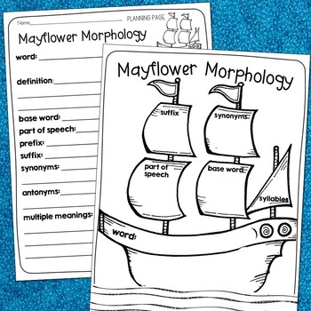Plymouth Colony Vocabulary Craft - FREE
