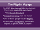Settlement of North America - Plymouth Colony and the Pilg
