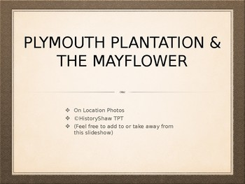 Plymouth & Mayflower Picture Tour