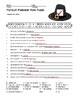 Plymouth Plantation Word Search and Printable Vocabulary Worksheets