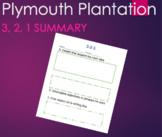 Plymouth Plantation by William Bradford 3, 2, 1 Graphic Organizer