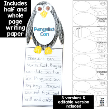 Penguin: One Page Craftivity