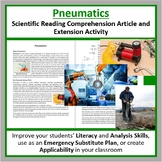 Pneumatics Reading Comprehension Article - Grade 8 and Up