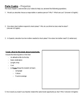 Pobre Ana - All Chapters Questions / Final Project Ideas