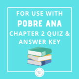 For Use With Pobre Ana Chapter 2 Quiz and Answer Key