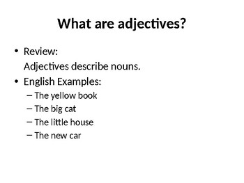 Pobre Ana Chapter 8 Demonstrative Adjective Review Powerpoint