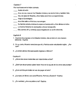 Pobre Ana Questions 3 pages Spanish 1 2 Realidades Avancemos