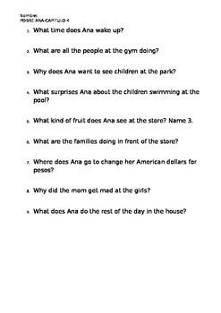 Pobre Ana Quiz Chapter 4