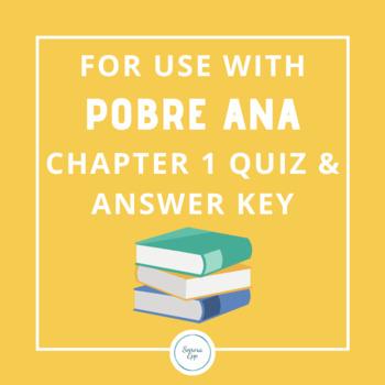 For Use With Pobre Ana Chap... by Senora Epp | Teachers Pay Teachers