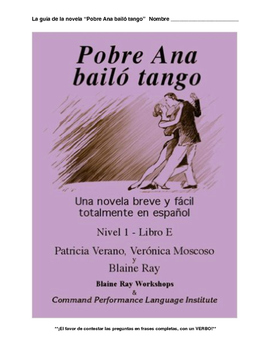 Pobre Ana bailó tango Novel Guide