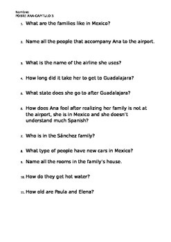 Pobre Ana chapter 3 Quiz