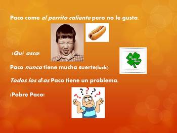 Pobre Paco Ch. 3A vocabulary