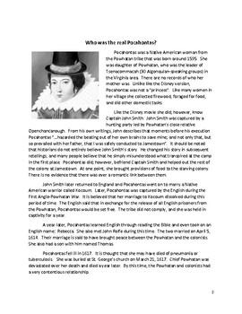 Pocahontas: Fact vs. Fiction