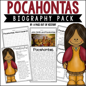 Pocahontas Biography Pack (Women's History)