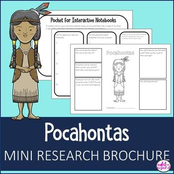 Pocahontas Research Bio Brochure Interactive Notebook