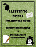 Pocahontas Saves John Smith Primary Source Letter Activity