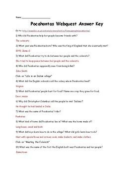 Pocahontas Webquest
