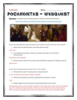 Pocahontas - Webquest with Key (History.com)