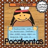 Pocahontas Writing Cut and Paste Craftivity