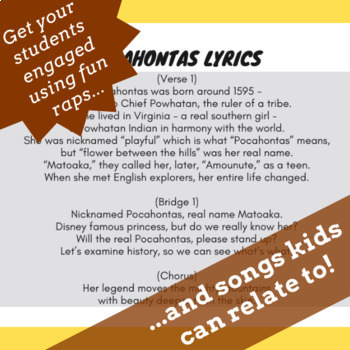 True Story of Pocahontas Reading Comprehension & Song, Freebee Printable Reading