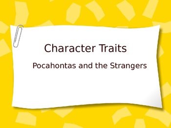 Pocahontas and the Strangers Character Traits