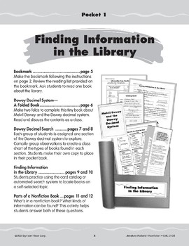 Pocket 01: Finding Information in the Library (Nonfiction)