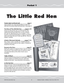 Pocket 01: Little Red Hen (Folktales and Fairy Tales, K-1)