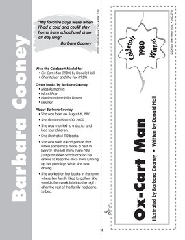 "Pocket 02: Barbara Cooney: ""Ox-Cart Man"" (Caldecott Winners 1-3)"