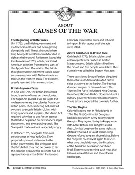 Pocket 02: Causes of the War (The American Revolution)