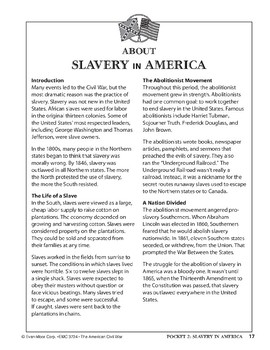 Pocket 02: Slavery in America (The American Civil War)