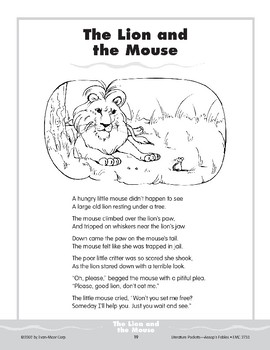 Pocket 02: The Lion and the Mouse (Aesop's Fables)