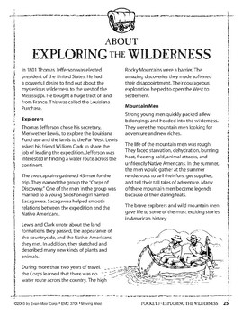 Pocket 03: Exploring the Wilderness (Moving West)