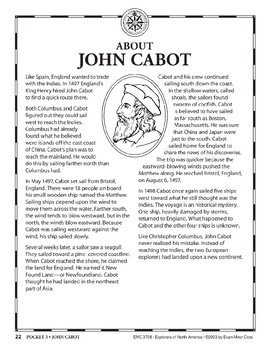 Pocket 03: John Cabot (Explorers of North America)