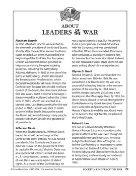 Pocket 03: Leaders of the War (The American Civil War)