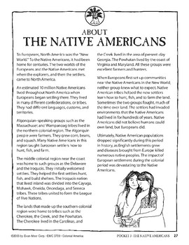 Pocket 03: The Native Americans (Colonial America)