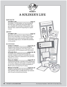 Pocket 04: A Soldier's Life (The American Revolution)