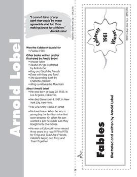 """Pocket 04: Arnold Lobel: """"Fables"""" (Caldecott Winners 4-6)"""